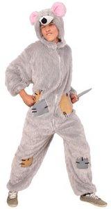 Rat pluche kostuum met muts