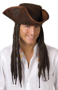 Caribische piraat bruin met bruin haar