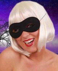 Oogmasker zwart rond model, Zorro masker