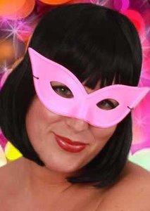 Oogmasker roze vlindermodel