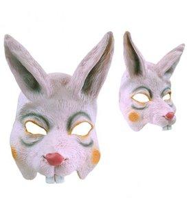 Rubber half-masker konijn