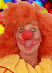 Clown ronde rode neus schuimrubber