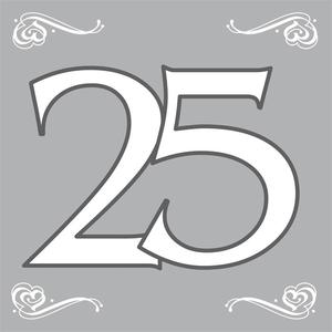 Servetten 25 jaar zilver