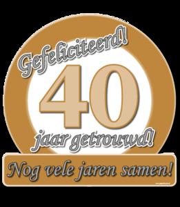 40 jaar jubileum