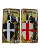 Ridderset 3 delig bijl 40 cm, schild 30 cm en zwaard 56 cm