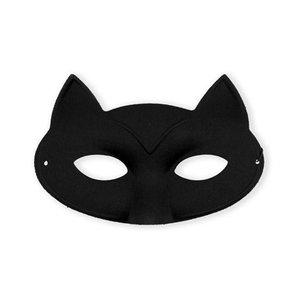Kattenmasker zwart eenvoudig