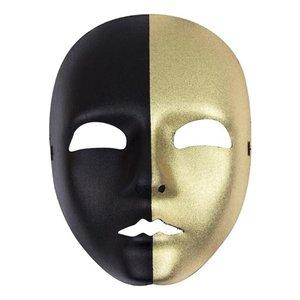 Gezichtsmasker dames goud - zwart