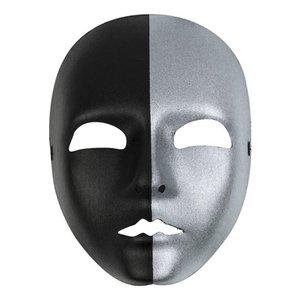 Gezichtsmasker dames zilver - zwart