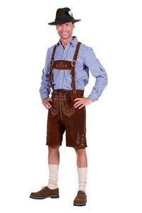 Oktoberfest heren pakket deluxe: lederhosen, trachtenhemd en kousen