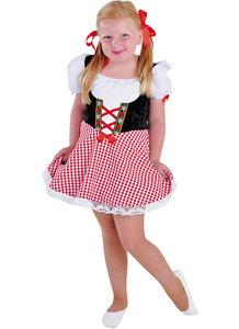 Tiroler jurkje zwart-rood