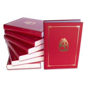 Sint boek compleet luxe rood
