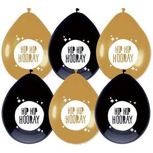 Ballonnen Festive Gold 'Hip Hip Hooray'