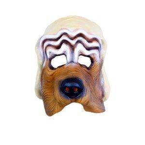 Rubber half-masker hond