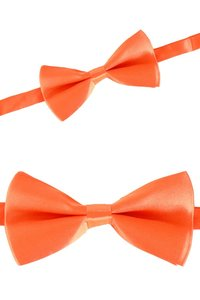 Vlinderstrikje satijn oranje verstelbaar 12,5 x 6 cm