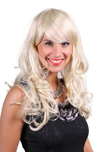 Blonde pruik Shirley