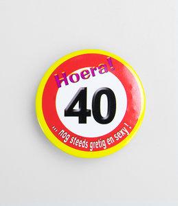 40 jaar button