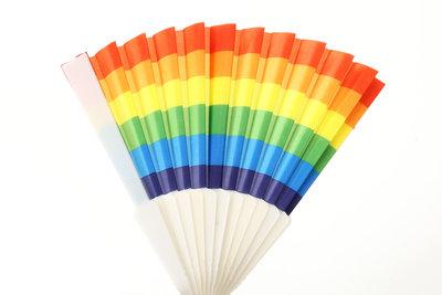 Spaanse waaier regenboog