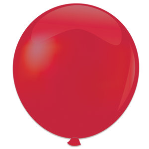 Mega ballon kersenrood