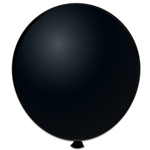 Mega ballon zwart