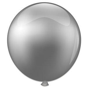 Mega ballon zilver metallic