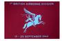 Airborne vlag met tekst 1st British Airborne Division 17-25 september 1944 150 x 225 cm